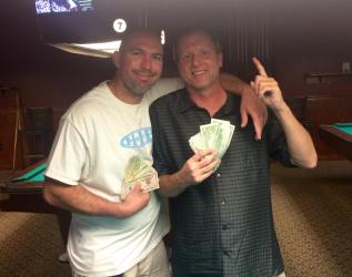Aaron and Mike win the cash tournament